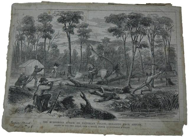sketch-of-stringybark-creek-ambush