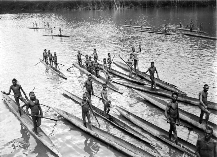 Asmat canoes