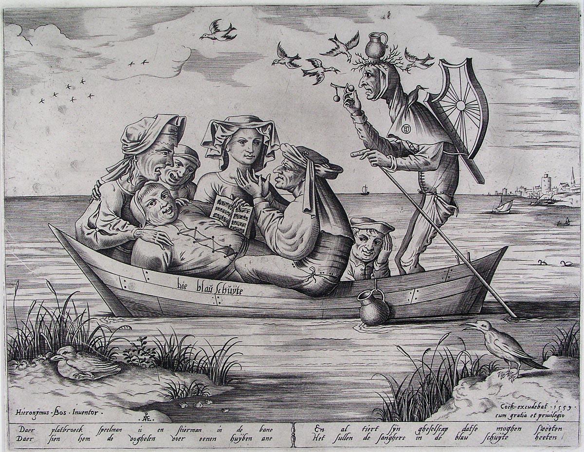 SHip of fools Pieter_van_der_Heyden_Die_blau_Schuyte_1559